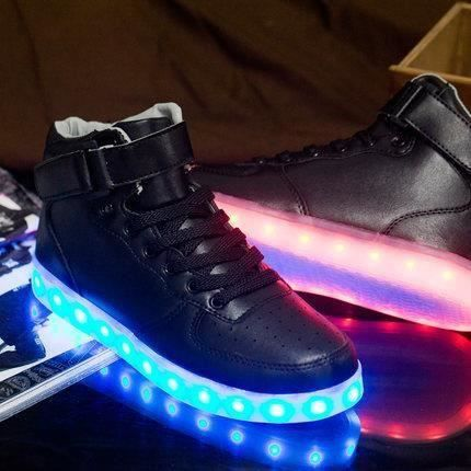 Chaussures Montante Femme Homme LED USB Recharg... OMYws