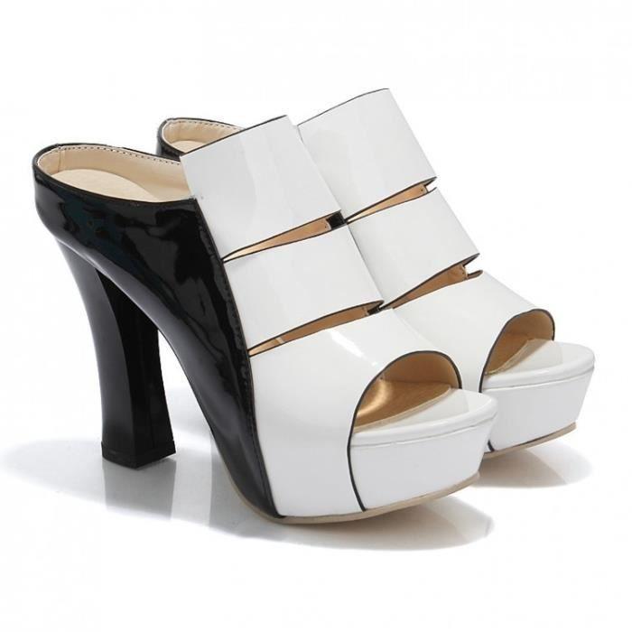 Sexy fond épais imperméable haute Pantoufles cool épais avec Chaussures pour femmes