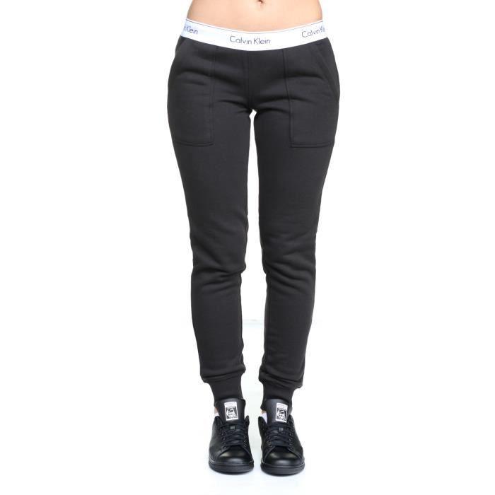 Jogging femme Calvin Klein Qs5716e Bottom Pant ... Noir Noir - Achat ... d7a6e06c430