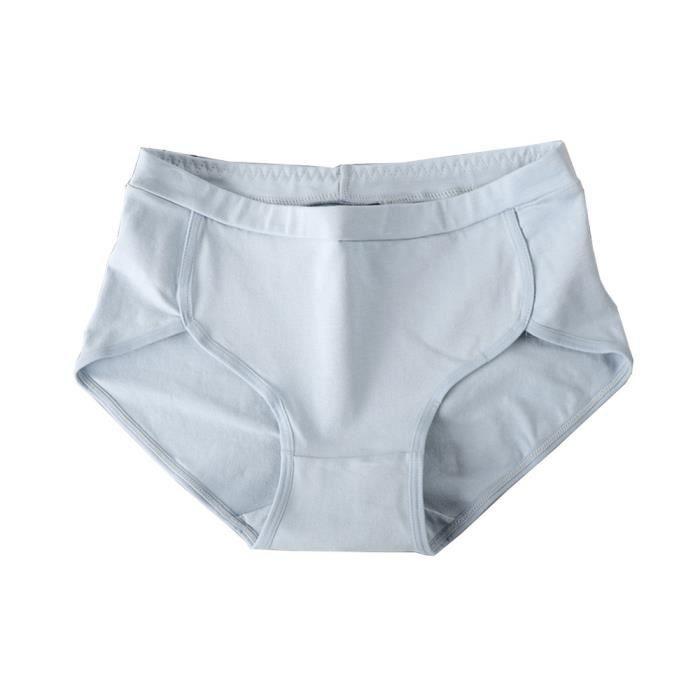 Culottes Femmes Taille Coton Lingerie Sous Bleu vêtements Culotte Mignon Thongs Moyen FqF7nWUS8