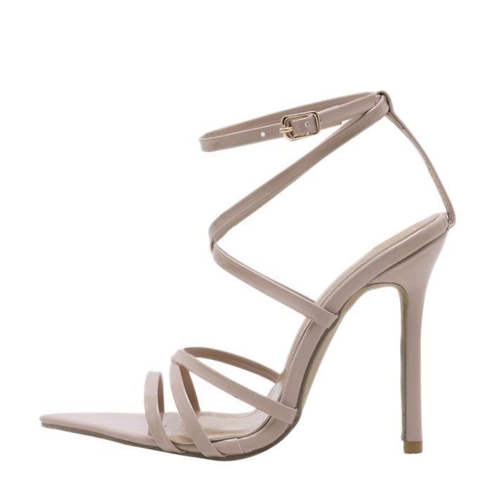 Chaussures Mariage Haut Beige Solide Parti Talon Talons Féminine Kanyrne Sandales Pointu Bout De Mode Minces 6BqwPwnxO