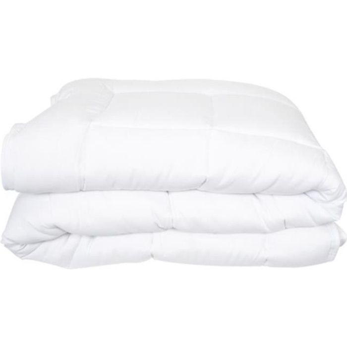 COUETTE Couette blanche 240x280 cm COCOON 400Gr-m2. Envelo