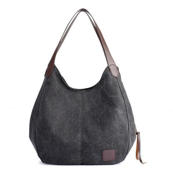 SBBKO346FemmesQualitéToileThreeLayerLarge Capacity Casual Vintage Handbag Shoulder Bag Violet