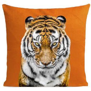 COUSSIN ARTPILO - Coussin TIGER Coton déperlant - Orange -