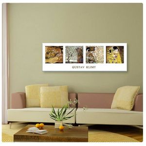 TABLEAU - TOILE Tree Of Life The Kiss Water Serpents Collage Gusta