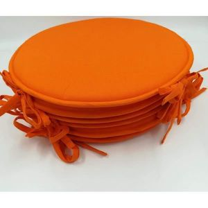 COUSSIN DE CHAISE Lot De 6 Galettes Chaise Ronde Victoria Orange