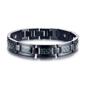 BRACELET - GOURMETTE HT Bijoux Bracelet homme - Fibre de carbone Quatre
