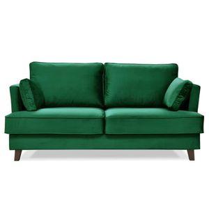 canape velours 3 places achat vente pas cher. Black Bedroom Furniture Sets. Home Design Ideas