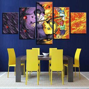 TABLEAU - TOILE (Non encadré) 5 Pièces Toiles Peintures Art Wall H