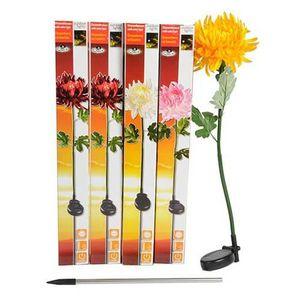 LAMPE DE JARDIN  Lampe solaire de jardin à LED Chrysanthème Blanc