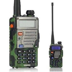 Excelvan Walkie Talkies 8CHXFC-Channel 2-Way Radio 3 Km Adaptateur-508 Écran LCD Rétro-éclairé (Orange)