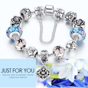 BRACELET - GOURMETTE Bracelet Charmes de Bijoux Argent Sterling 925/100