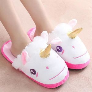 Licorne Chaussons Plus cachemire chaud doux Poids Léger Qualité Supérieure Intéressant Chaussure Loisirs Taille 35-45 Q4muGwZ2gb