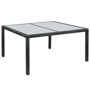 Table de jardin en résine tressée - Achat / Vente Table de jardin en ...