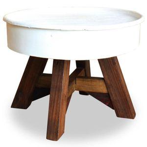 TABLE BASSE Table basse Table de Salon Ronde Bois de récupérat