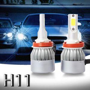 PAUPIERE DE PHARE Nouveau 2pcs C6 LED Phare de voiture Kit COB H11 3