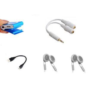 LECTEUR MP3 Lecteur baladeur MP3 à carte mémoire - 2 ecouteurs