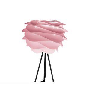 LAMPE A POSER CARMINA-Lampe à poser Trépied Noir Ø32cm rose tie
