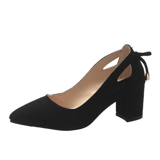 Vintage femmes bout rond sangle plat bottes bottes en cuir occasionnels martin chaussures@Noir   HEXQ q1002 Noir Noir - Achat / Vente botte