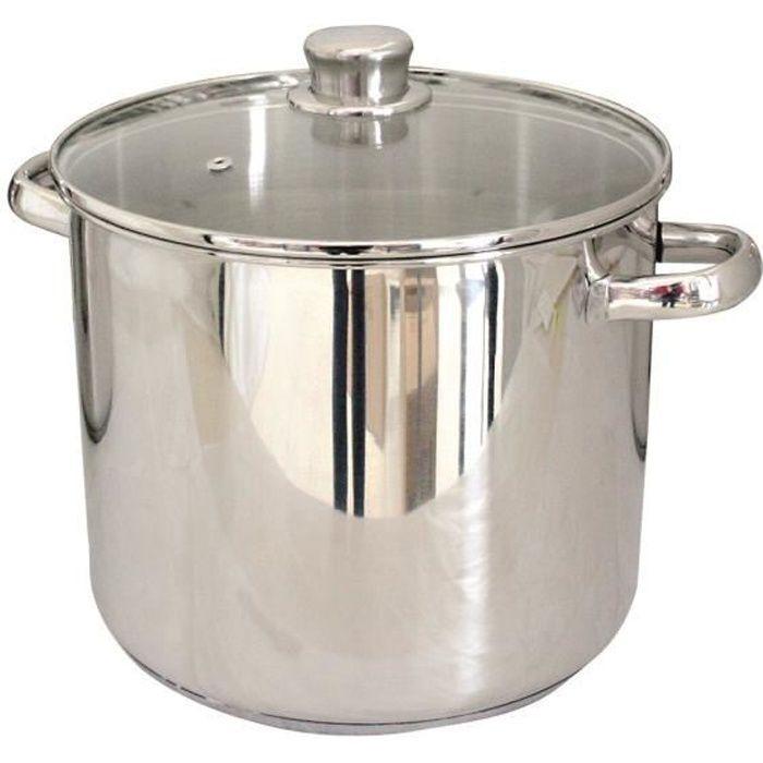 Matériau : acier inoxydable - Couvercle - Diamètre 24 cm - Contenance : 9 litres.FAITOUT - MARMITE