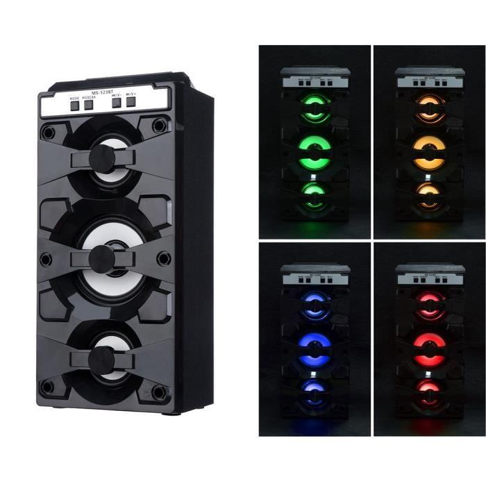Extérieur Sans Fil Bluetooth Haut-parleur Portable Super Bass Avec Radio Usb - Tf Aux Fm_r1701