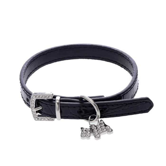 Collier Pour Chien Puppy Chat Noir L Ras Du Cou Nba257 Bl54943
