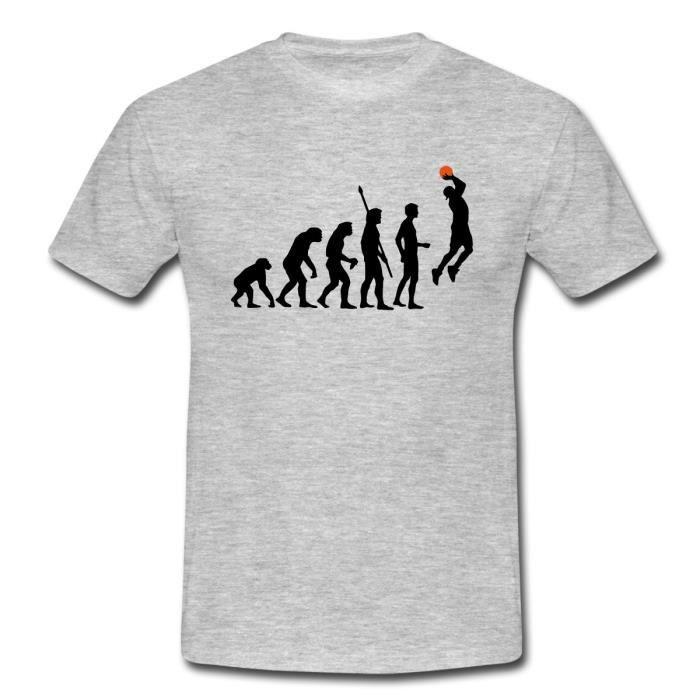 7142040111cd Basket-Ball Évolution Du Singe Au Basketteur T-shirt Homme de Spreadshirt®