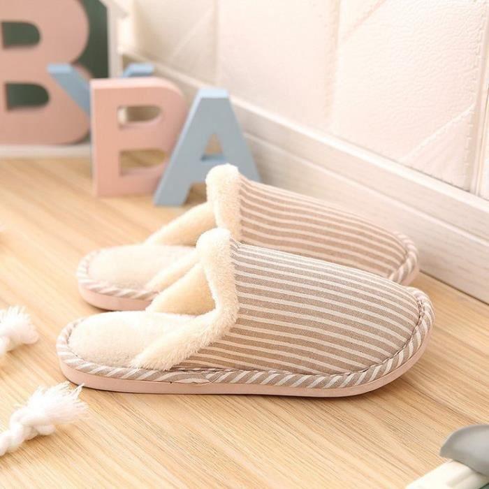 Pantoufles Chaussons à la maison pantoufles de coton chaud