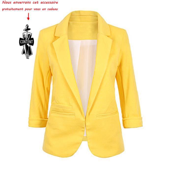 4c552f69f8310 Blazer Femme uni Veste Femmes slim Manteau femme Blouson femmes Vêtements