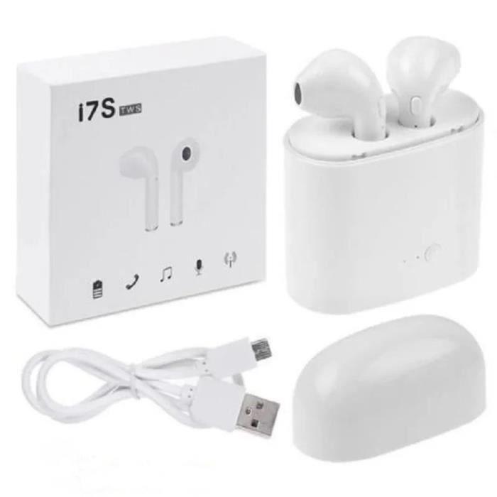 In-ear Sans Fil Bluetooth Écouteurs Jumeaux Écouteur Avec La Boîte De Charge Pour Tws Core I7 (blanc)-cy