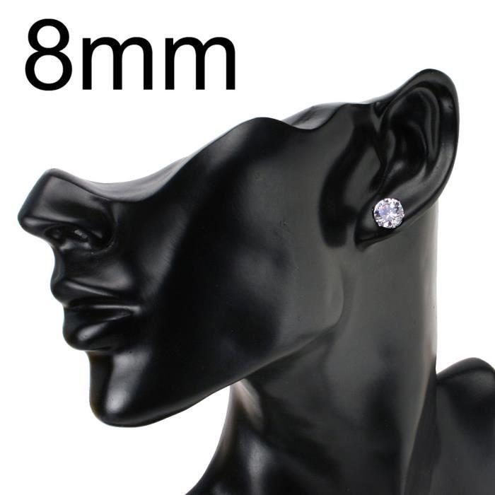 Jewel Panda Paires Stud EarringStainless Steel EarringNickel-Free8 Couleur 2 mixte en 4 tailles
