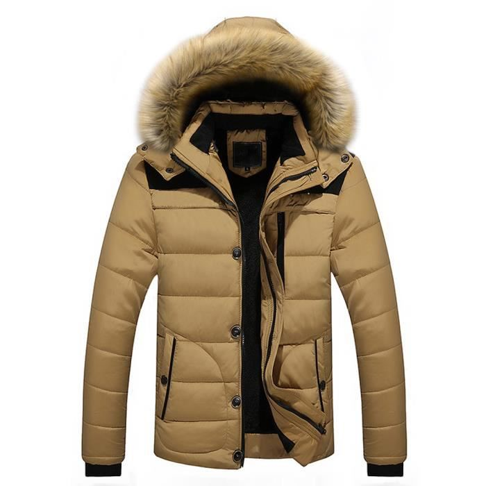 À Hommes Veste Air Plein Chaud Capuchon D'hiver Llw5014 Manteau Épais En Fourrure Plus Les UCdqFwSPxU