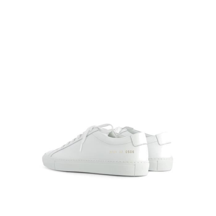 COMMON PROJECTS FEMME 37010506 BLANC CUIR BASKETS