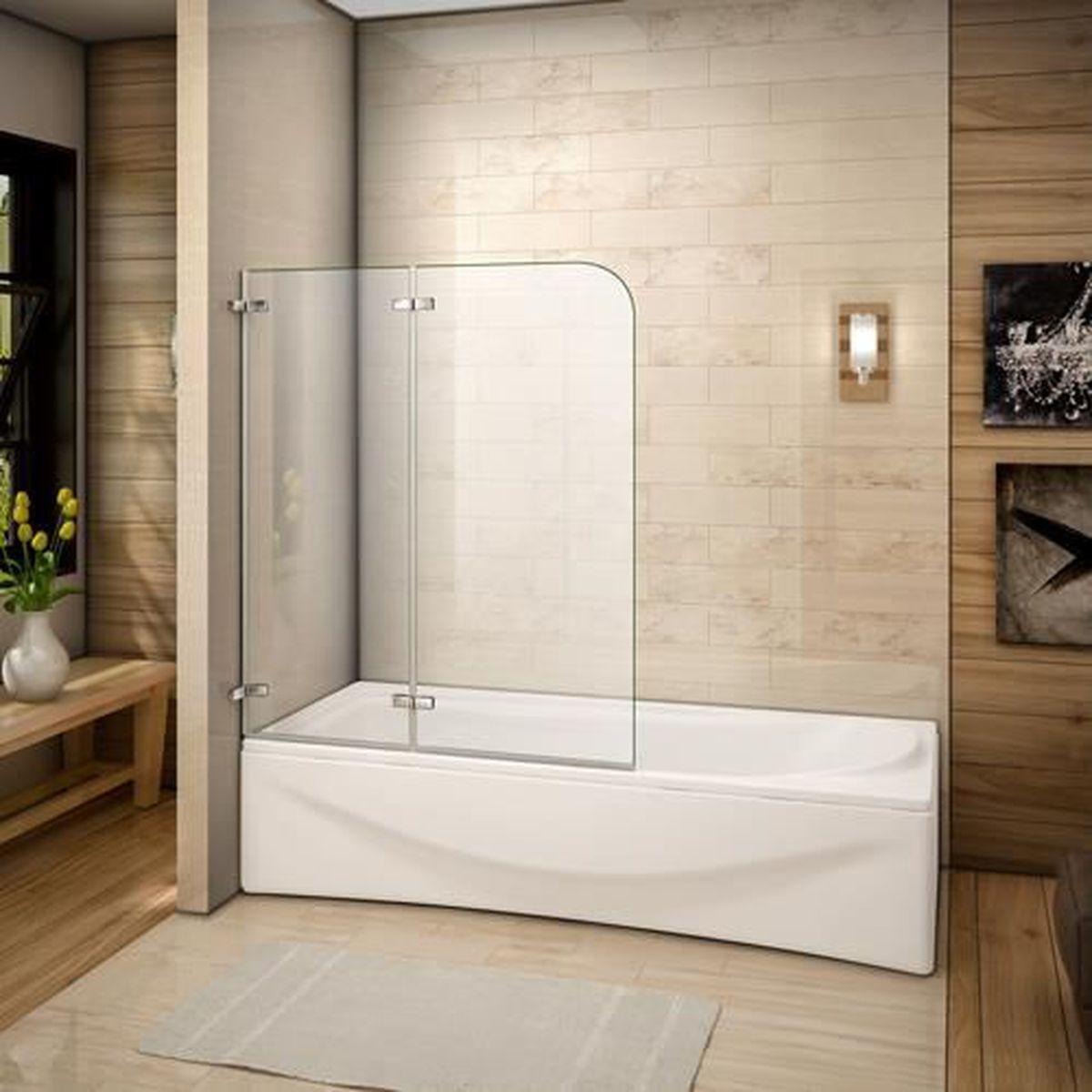 xcm pare baignoire volets rabattables mm verre with installer un pare baignoire sans percer. Black Bedroom Furniture Sets. Home Design Ideas