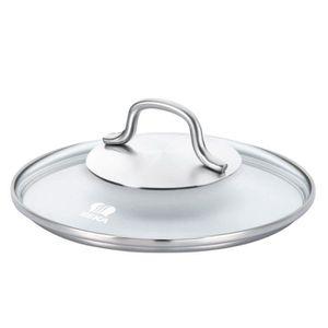 BEKA Couvercle en verre ROYAL 24cm transparent et gris