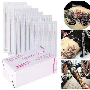 AIGUILLE DE TATOUAGE 100pcs-set Aiguille à tatouer permanentes manuelle