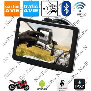 PACK GPS AUTO GPS MOTO 5 POUCES ANDROID IPX7