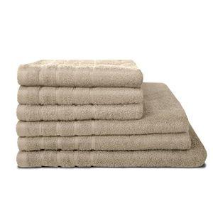 SERVIETTES DE BAIN LOVELY HOME Lot de 3 serviettes + 2 draps de douch