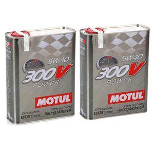 HUILE MOTEUR Huile moteur - MOTUL 104242 300V POWER 5W40 - 4 Li