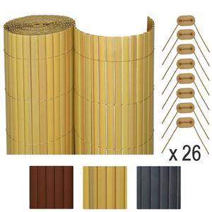 CLÔTURE - GRILLAGE Sol Royal Profil de finition en PVC 100cm nature -