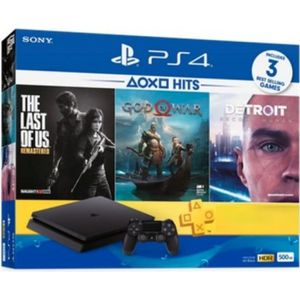 CONSOLE PS4 PS4 500 GO + God of War + Detroit + The Last of Us