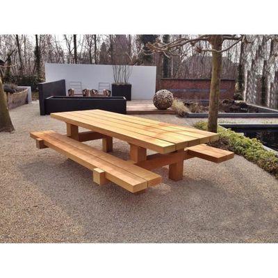 Casa Padrino Meubles De Jardin Table Rustique 2 Bancs De Jardin