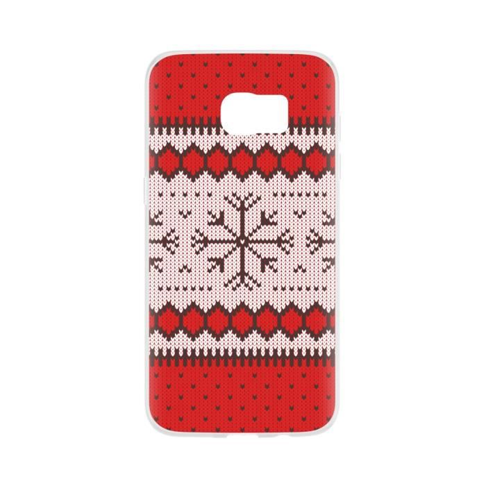 FLAVR Coque Case Ugly Xmas Sweater - Galaxy S7 Edge- Rouge