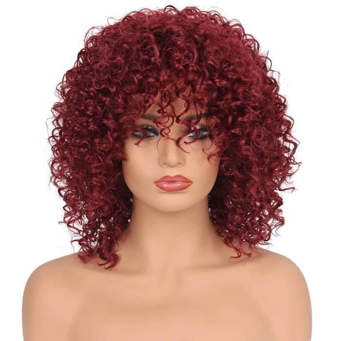 Perruques synthétique cheveux bouclés Femme