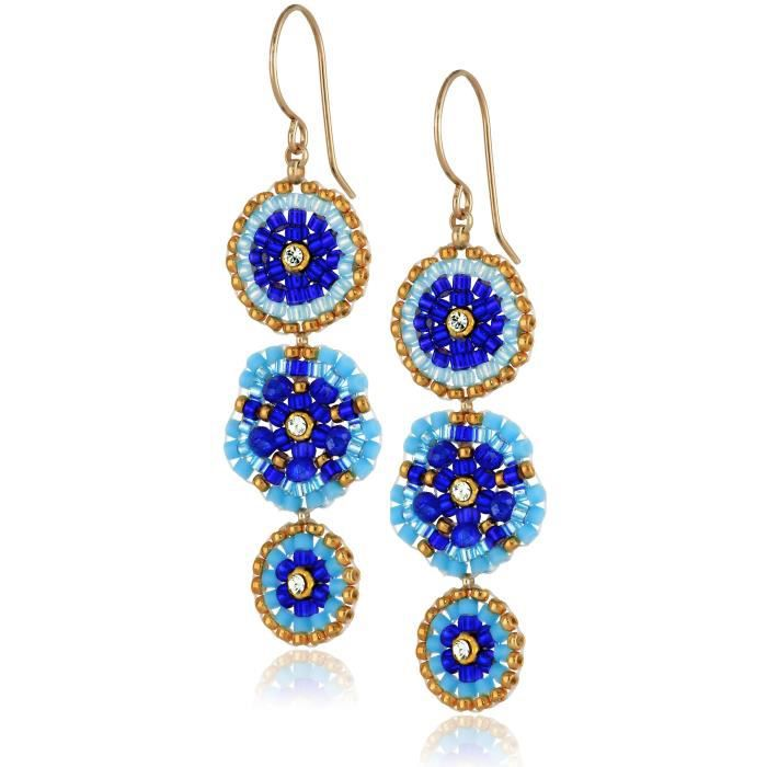 Miguel Ases Gold-filled And Blue Created-quartz Drop Earrings OB5WL