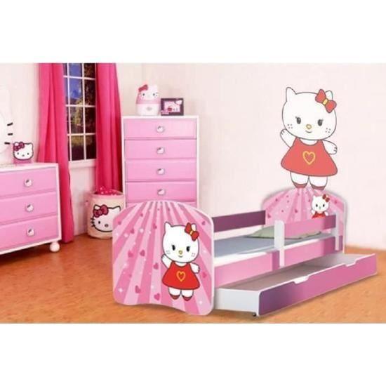 lit gigogne fille hello kitty avec sommier et matelas 140x70cm achat vente lit gigogne lit. Black Bedroom Furniture Sets. Home Design Ideas