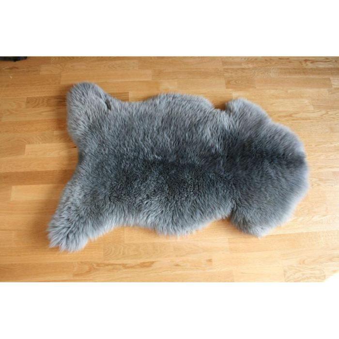 Peau de mouton teint e gris achat vente tapis cdiscount - Peau de mouton maison du monde ...