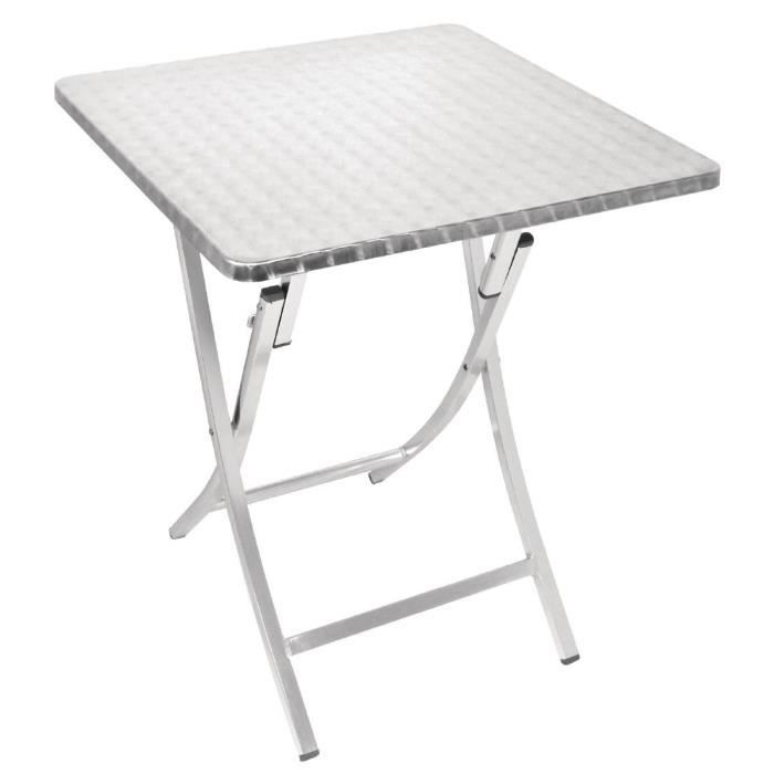 Bolero Place Bistro Table Pliante Aluminium 600mm Achat Vente