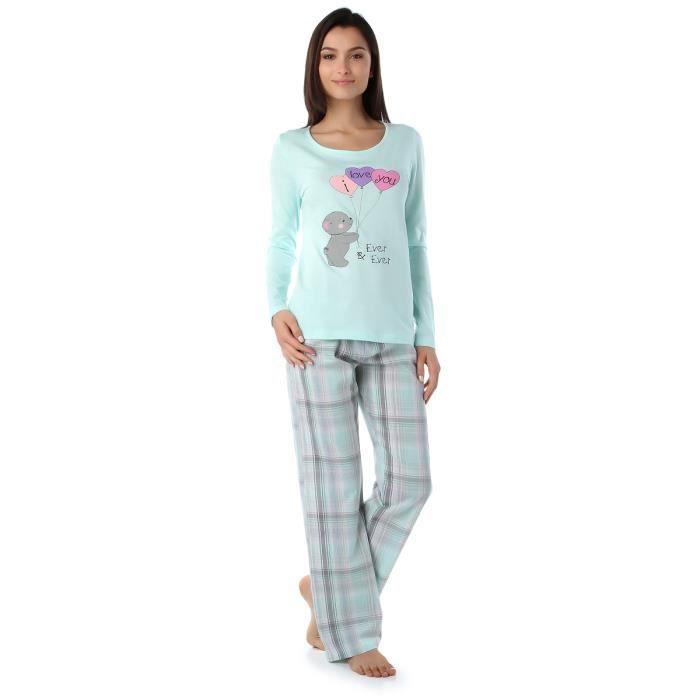 d5aaabd2c33dc Pyjama imprimé ourson - VERT Vert - Achat   Vente pyjama - Cdiscount