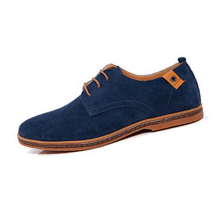SIMPVALE Mocassins Suede Classic Oxford Cuir Chaussure Homme DldCg1
